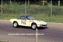 "Lotus Elan. Andre Wicky at speed Monza 1964. 10x7"" colour photo"